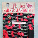 Flo-Jo's Knicker Making Kit - Black Cherry