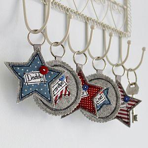 Personalised Star Key Ring - keyrings