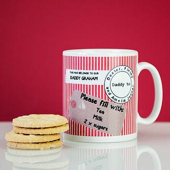 Personalised Gift Tag Mug