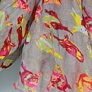 Multi Coloured Bird Print Scarf