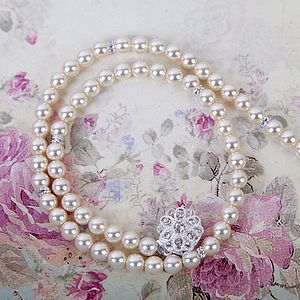 Rhinestone Pearl Necklace - women's jewellery