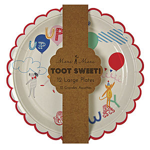 Toot Sweets Paper Plates