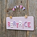 Personalised Children's Door Sign