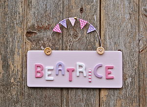 Personalised Children's Door Sign - children's room