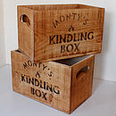 Vintage Kindling Storage Crate