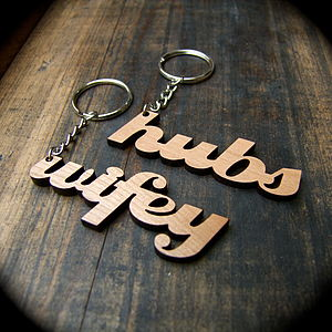 Couples Key Rings - anniversary gifts