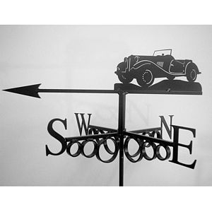 Vintage Sports Car Weathervane - sculptures & ornaments