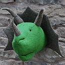 Felt Triceratops Head