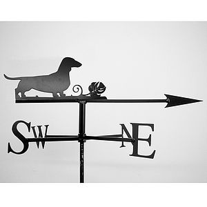 Dachshund Weathervane - sculptures & ornaments