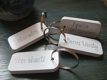Sturdy Personalised Key Ring