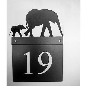 Elephants House Number Plate