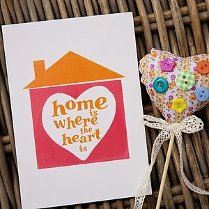 'Home Is Where The Heart Is' Card