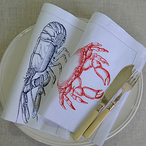 Crustaceans Table Napkin - table linen