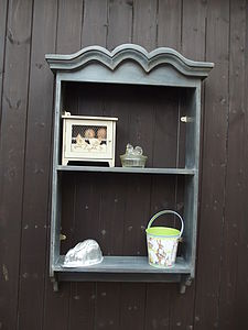 Reclaimed Chateau Wall Rack - shelves