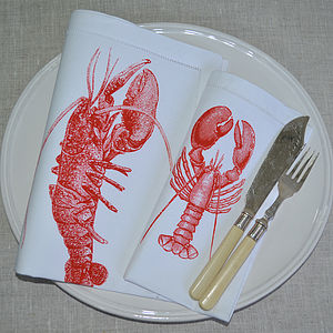 Crayfish Or Lobster Table Napkin