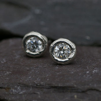 Silver And Cubic Zirconium Earrings