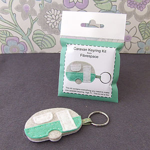 Caravan Keyring Mini Craft Kit - as seen in the press