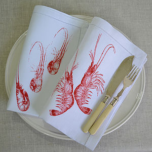 Prawns Table Napkin - bed, bath & table linen