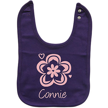 Purple Bib/Light Pink print
