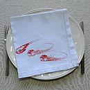Orange prawns table napkin