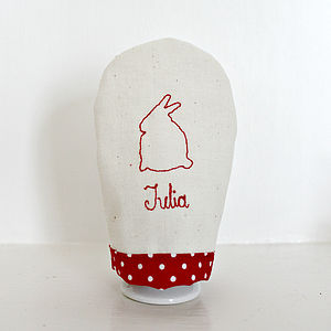 Personalised Name Hand Sewn Egg Cosy - egg cups & cosies