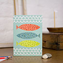 Patterned Fish Blank Greetings Card