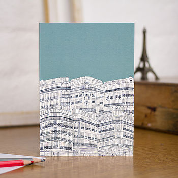 Downtown Paris Blank Greetings Card