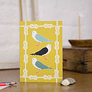 Seagulls Blank Greetings Card