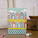 Beach Huts Blank Greetings Card