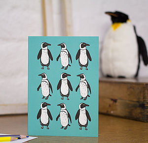 Penguin Blank Greetings Card - summer sale