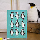 Penguin Blank Greetings Card