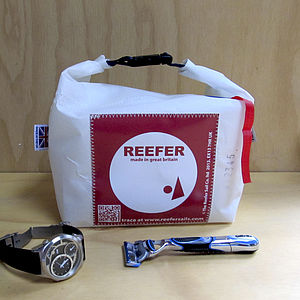 Recycled Sailcloth Wash Bag - eco-conscious
