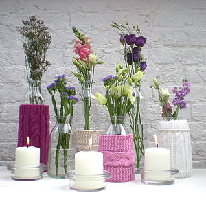 Glass Bottle Vases - tableware