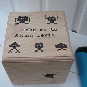 Personalised Space Invaders Box