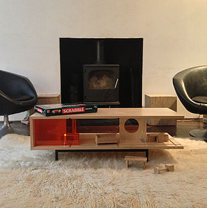 Dual Purpose 'C' Coffee Table And Dolls House - living room