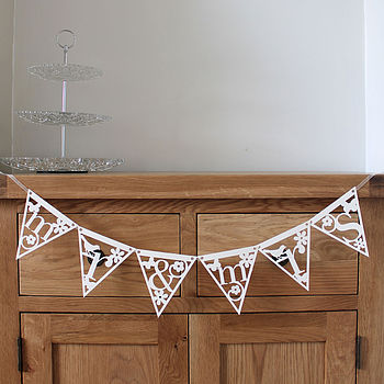 Personalised Alphabet Papercut Bunting
