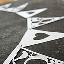 Personalised Alphabet Papercut Bunting