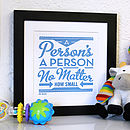 'A Person's A Person' Dr Seuss Poster