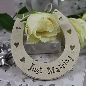 'Just Married' Lucky Horseshoe - keepsakes