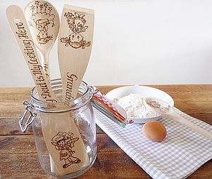 Personalised Wooden Kitchen Utensils - kitchen