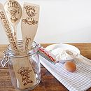 Personalised Wooden Kitchen Utensils