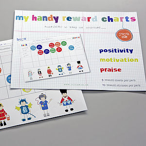 Boys Handy Reward Chart Pack With Stickers - keepsakes