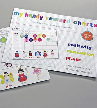 Girls Handy Reward Chart Pack With Stickers