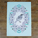 Thumb mint feather giclee print