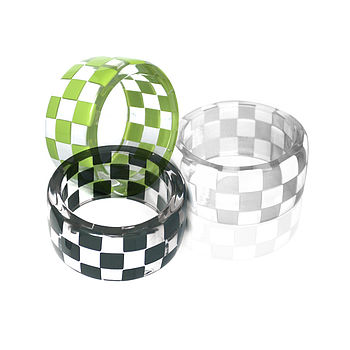 Checkerboard Resin Bangle