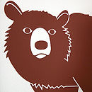 Bear Art 'Bear With Me…' Screen Print