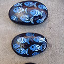 Handpainted Fish Pebbles