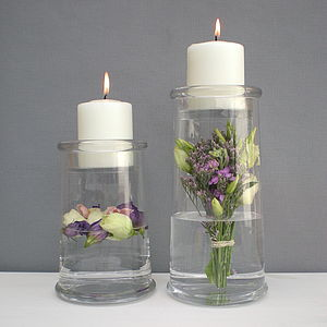Storage Jar Vase With Candle Holder - dining room