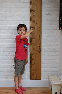 'Dad's Rule' Giant Wooden Ruler Height Chart - height charts