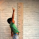 Wooden Ruler Height Chart In Washed White